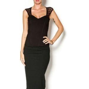 Bardot Black Lace Corset Top US Size 8 Medium $88